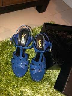 YSL - Tribute Heels Electric Blue ORIGINAL