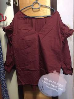 Maroon Top shoulder