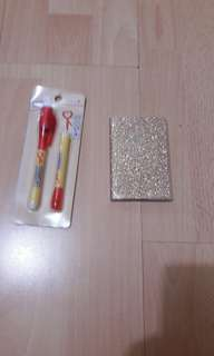 Cute cartoon invisible pen and notebook