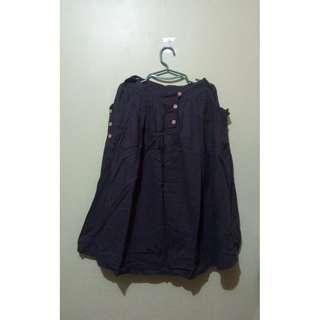 Dark Gray Midi Skirt