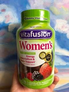 Vita fusion女性綜合維生素軟糖 自然莓果味 70粒裝