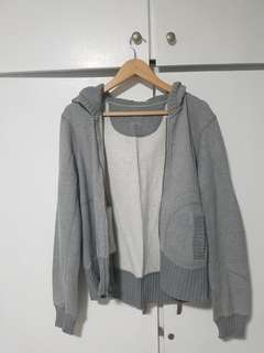 Gap Grey Zip Up Hoodie