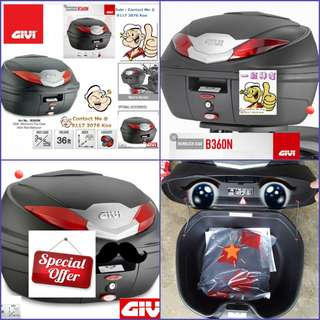 2306---GIVI BOX B360 n RED Reflection For Sale !!!Brand New (YAMAHA, Honda, SUZUKI, ETC)