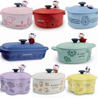 New 7-Elevan (7-11) Taiwan Le Creuset X Hello Kitty containers