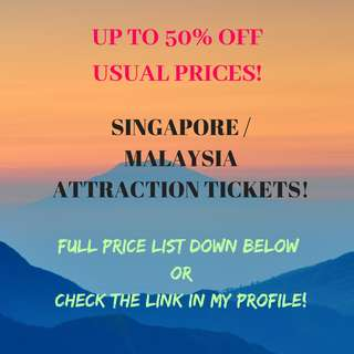 CHEAP ATTRACTION TICKETS