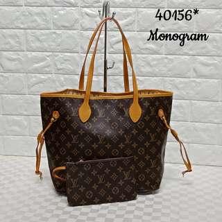 Louis Vuitton Neverfull 2in1 Handbag
