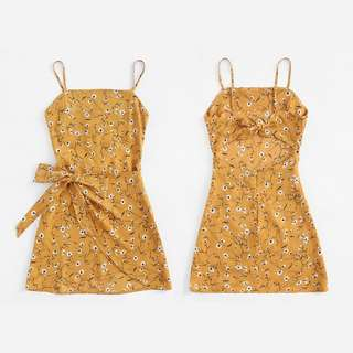 Looking For Mustard Floral Dress