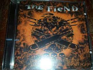 Music CD: The Fiend–The Brutal Truth - UK Hardcore Punk Band