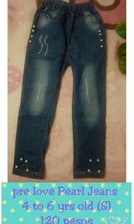 Pre love peral denim pants