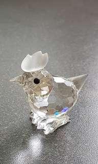 48 Swarovski Silver Crystal - Miniature Hen