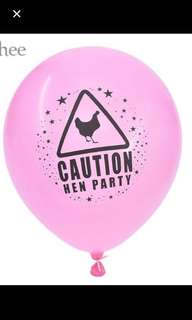 5 pcs $1.00: Hen party balloon