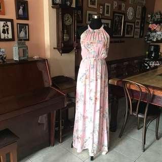 Floral Maternity Long Dress