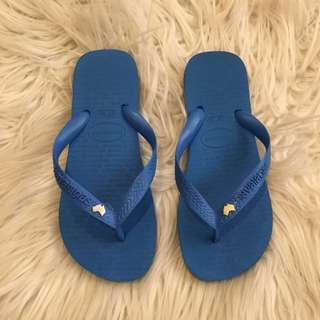 Havaianas Authentic Blue Slippers