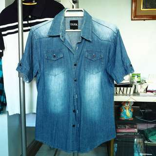Classic Faded Denim Button Down (450php only)