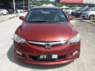 SAMBUNG BAYAR/CONTINUE LOAN  HONDA CIVIC FD 1.8 AUTO YEAR 2006 MONTHLY RM 1038 BALANCE 5 YEARS + ROADTAX VALID  DP KLIK wasap.my/60133524312/fd