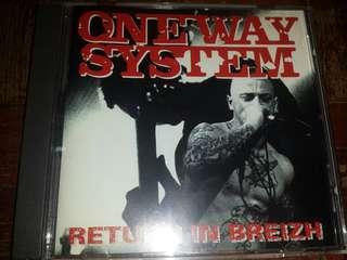Music CD: One Way System ‎– Return In Breizh - UK Punk Band