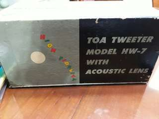 TOA Tweeter Model HW-7 with Acoutics Lens