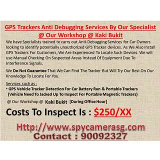 GPS Trackers Scanning Services By Our Specialist At Our Workshop