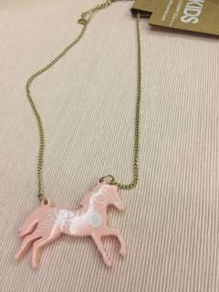 Horse pendant necklace for girls by Cotton On