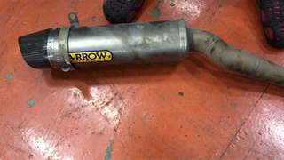 Arrow exhaust pipe