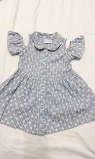 Little Miss 2T Maong Dress
