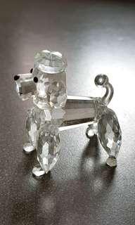 51 Swarovski Silver Crystal - Large Poodle