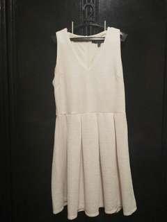 Details A line Beige Dress