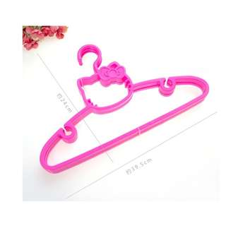 Hello Kitty Head Design Thick High-Grade Plastic Clothes Hanger - Hot Pink