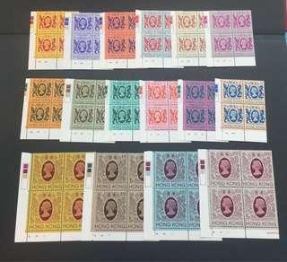 香港1982獅龍通用普票方連