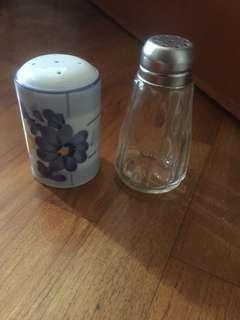 Salt and pepper glass ceramic container
