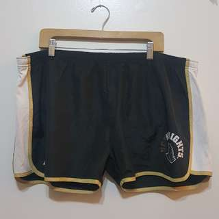 Plus Size Black/Gold Running Shorts (Size 3XL)