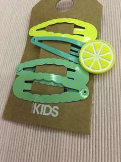 Lemon hair clips/ hair snaps