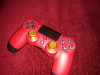 Dualshock 4 magma red customized ps4 controller