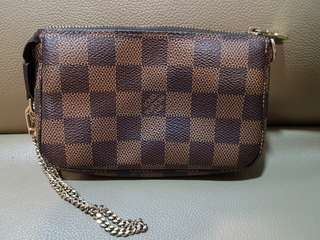 Authentic Louis Vuitton mini pochette wristlet