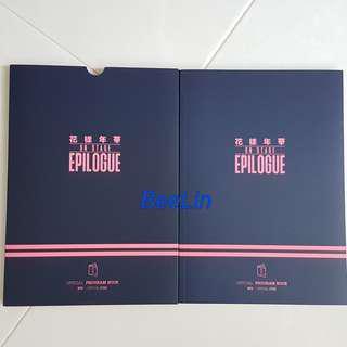 (SOLD)Bts on stage epilogue program book