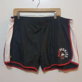 Plus Size black/red Running Shorts (Size 3XL)
