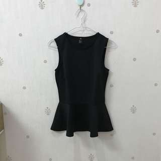 H&m peplum black top