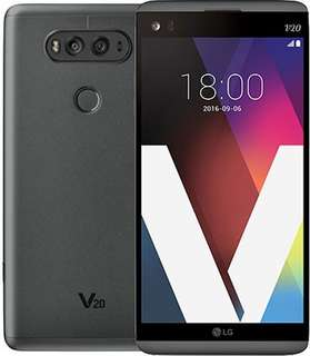 LG V20 Titan Grey with covers and extra battery kit