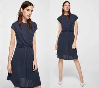 OshareGirl 06 歐美女士純色皺摺設計莫代爾棉連身洋裝長版上衣裙連身裙