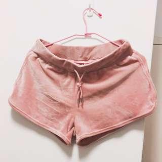 Net 絨布 運動褲 睡褲 短褲