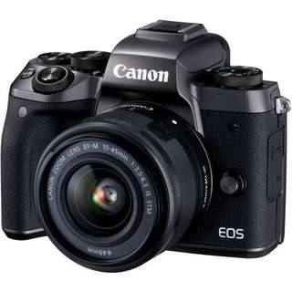 Canon EOS M5 with 15-45mm Lens Kredit Tanpa CC