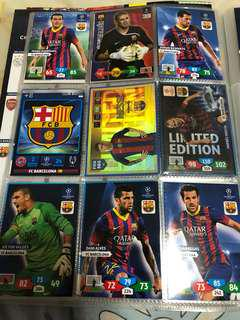 Panini Barcelona Assorted Cards Set