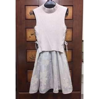 🚚 Snidel 正品 日本新宿店限定 薰衣草色兩件式無袖針織set洋裝