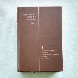 Halsbury's Laws Of England (4th Ed. Vol.1) by Lord Hailsham of St Marylebone  -  Law Book