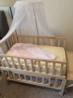 Baby Cot Bed side Complete Set