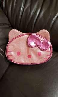 SANRIO Hello Kitty 桃紅色化妝袋 (閃亮 Bling Bling 頭型款)