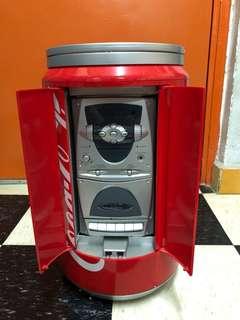 Coca Cola 懷舊可口可樂罐 限量珍藏版迷你HiFi 卡式收音機 CD