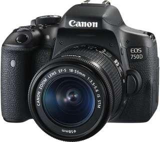 Canon EOS 750D Kit 18-55mm Kredit Kamera Mudah