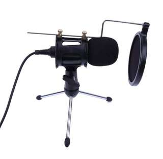 Portable Desktop Condenser Microphone Stand Holder Tripod Set