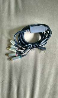 Component av cable for sony psp game console